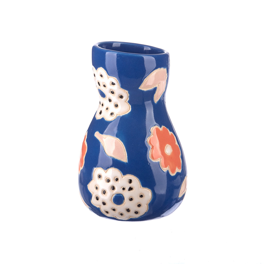 Jones & Co //  Saturday Vase - Blue Floral