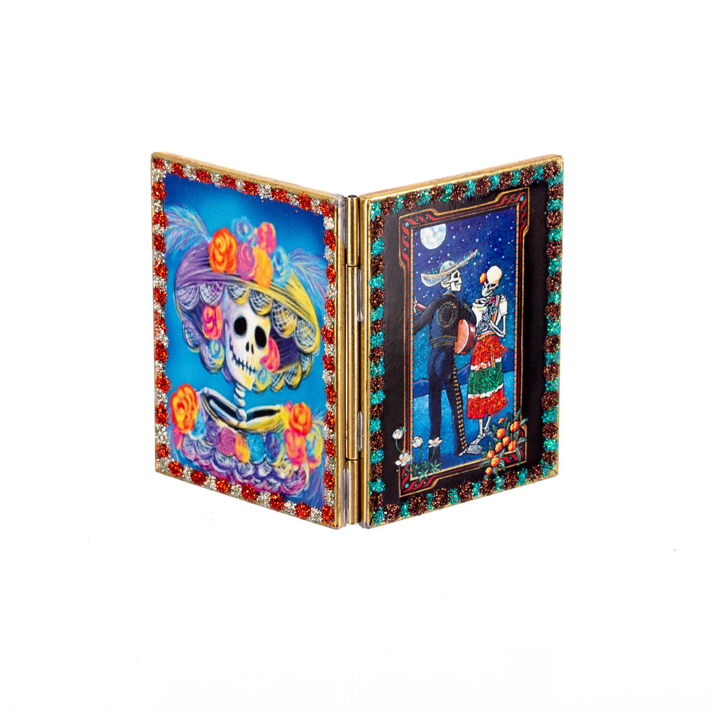 Mexican Handcrafts // Day Of The Dead Compact Mirror - Assorted