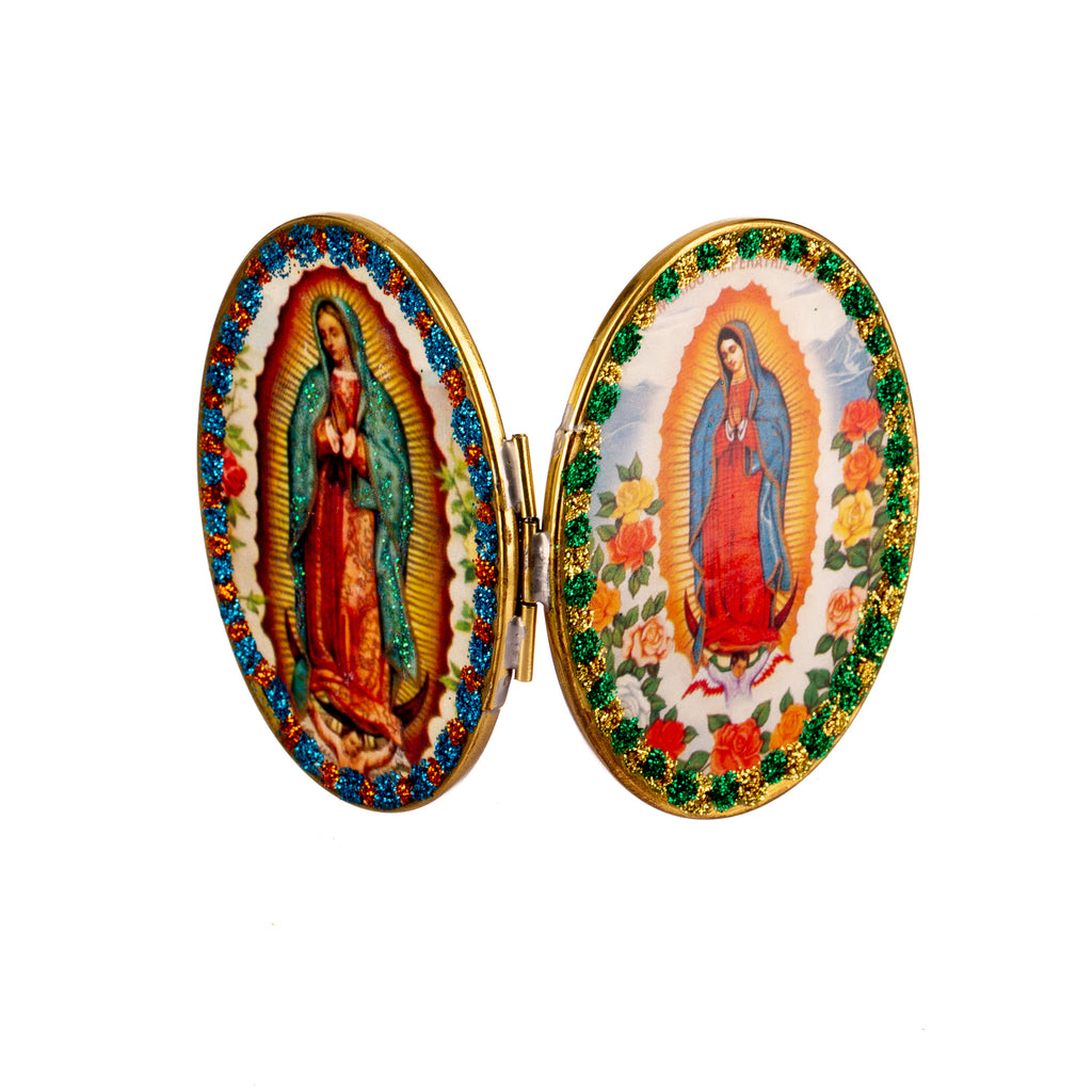 Mexican Handcrafts // Oval Mary Compact Mirror