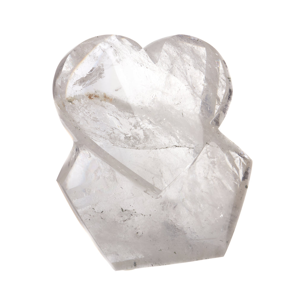 Clear Quartz Heart Sculpture #1