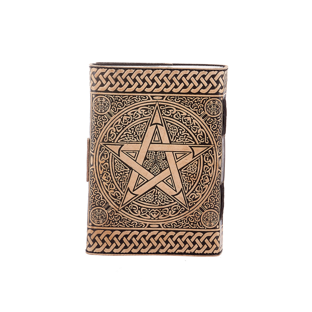 Star Brown & Black Leather Journal