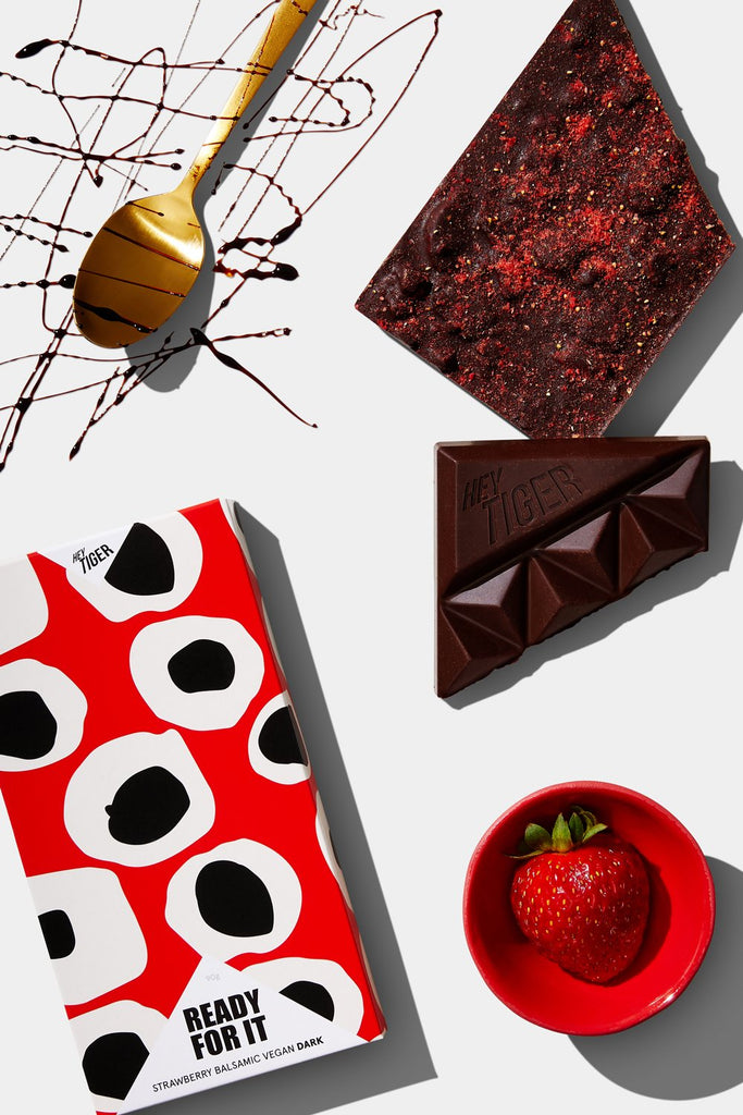 Hey Tiger // Ready For It - Strawberry and Balsamic Dark Chocolate 30g