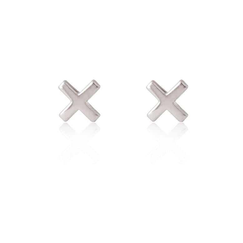 Linda Tahija //   Cross Stud Earrings - Sterling Silver