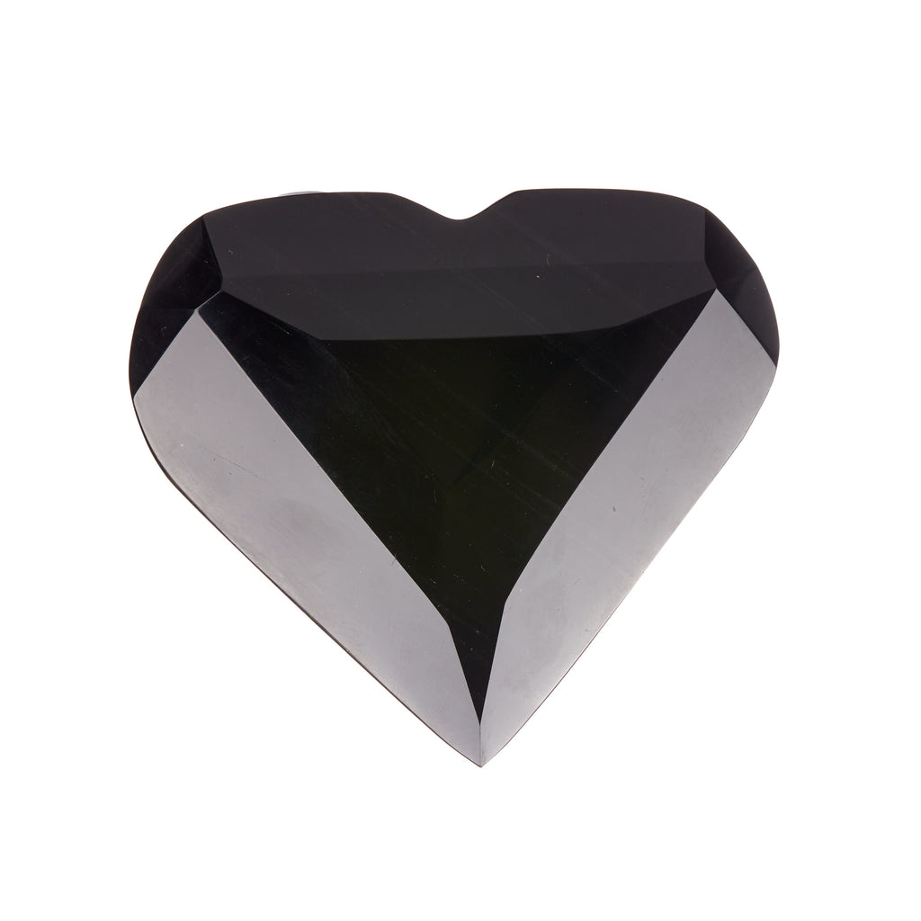 Black Obsidian Faceted Heart #8
