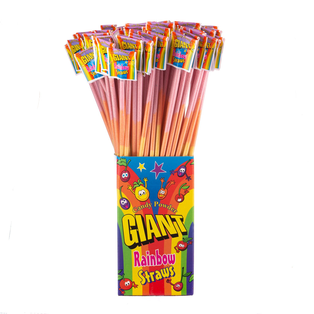 Giant Rainbow Straws