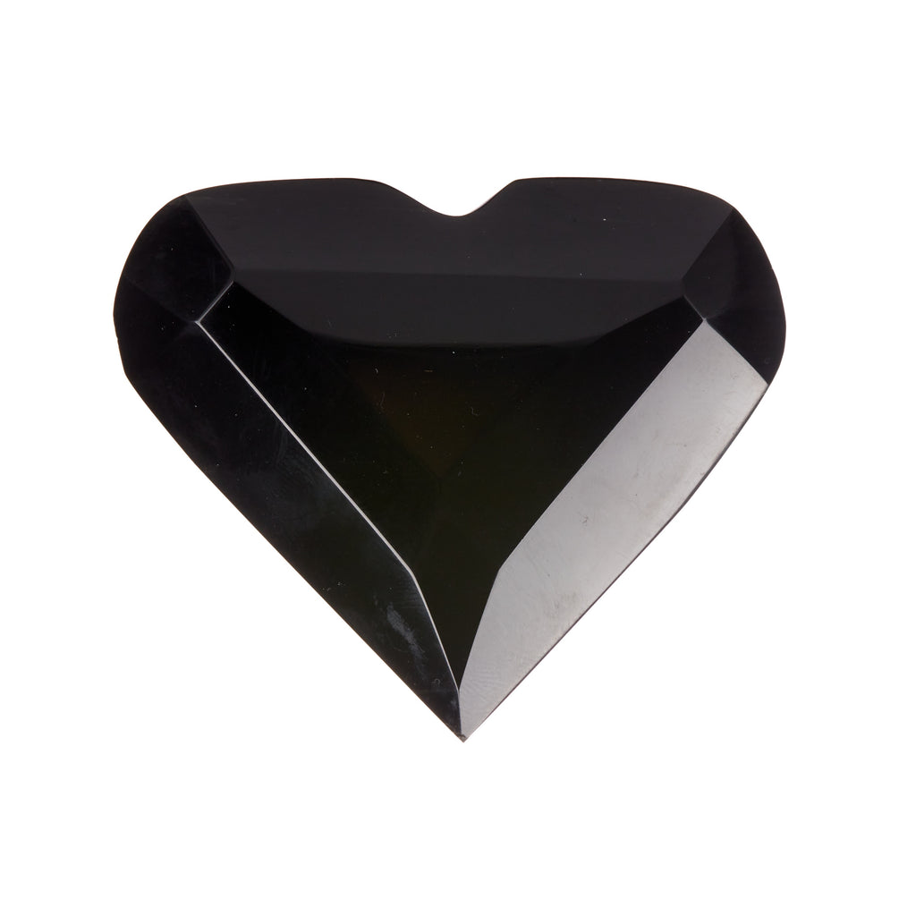Black Obsidian Faceted Heart #1