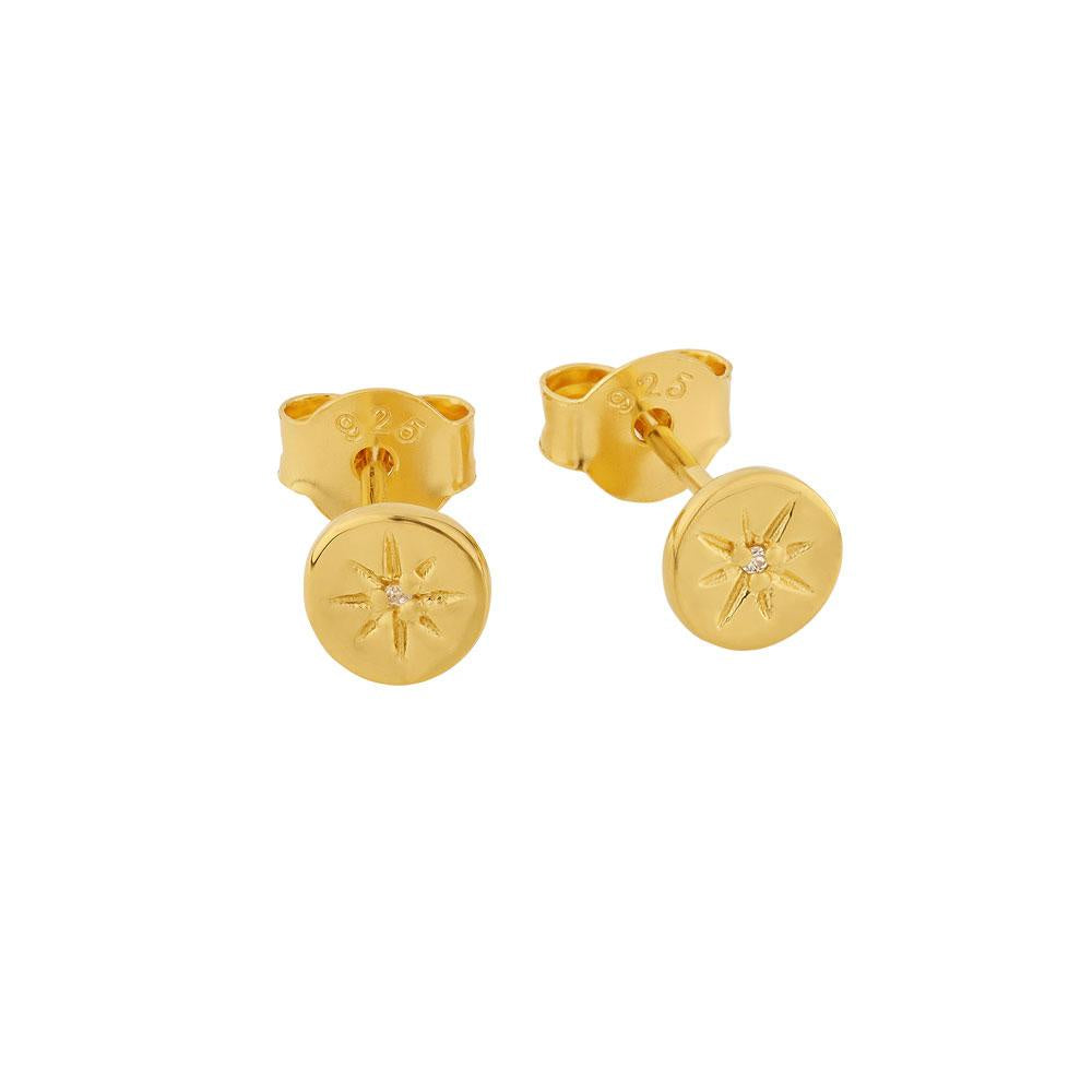 Midsummer Star // Gold Delicate Enchanted Light Studs
