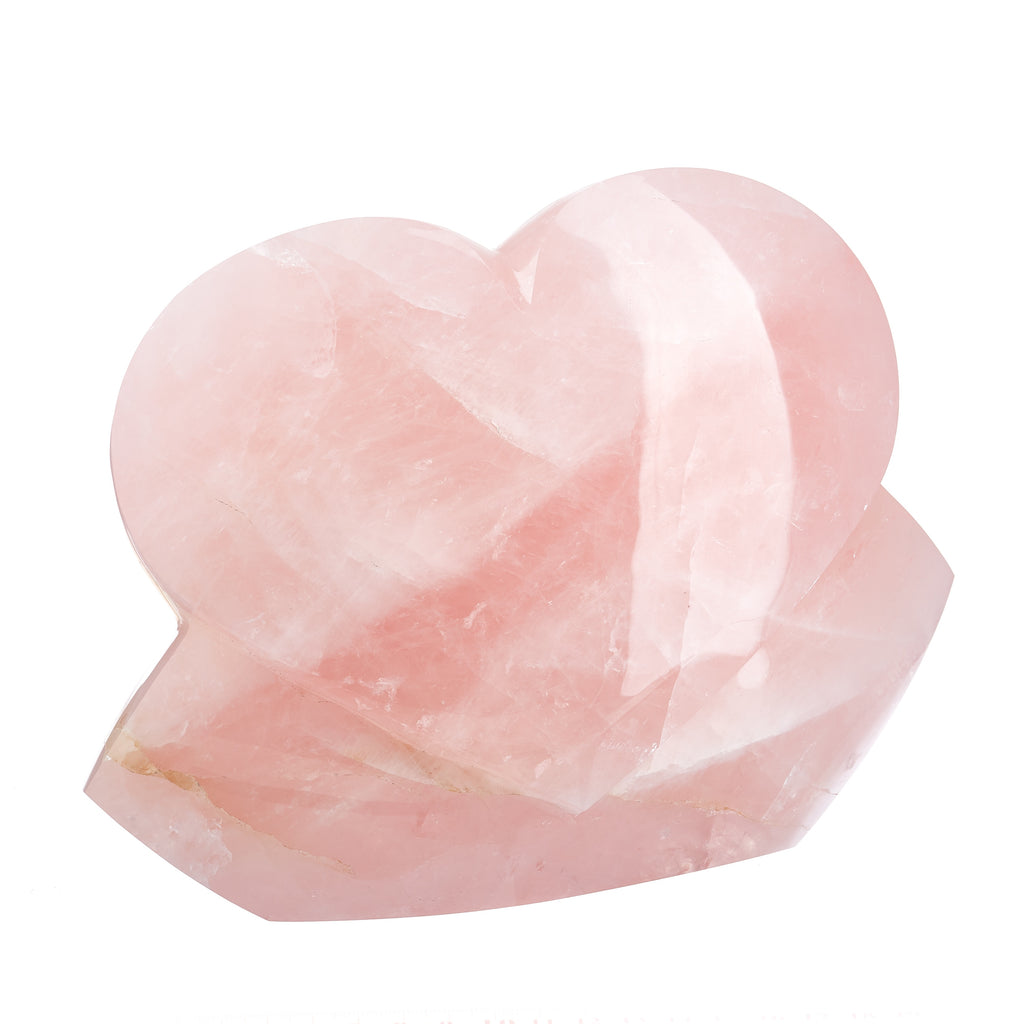 Rose Quartz Heart Sculpture #9
