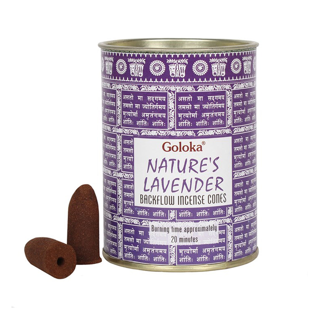 Goloka //  Nature's Lavender Backflow Incense Cones