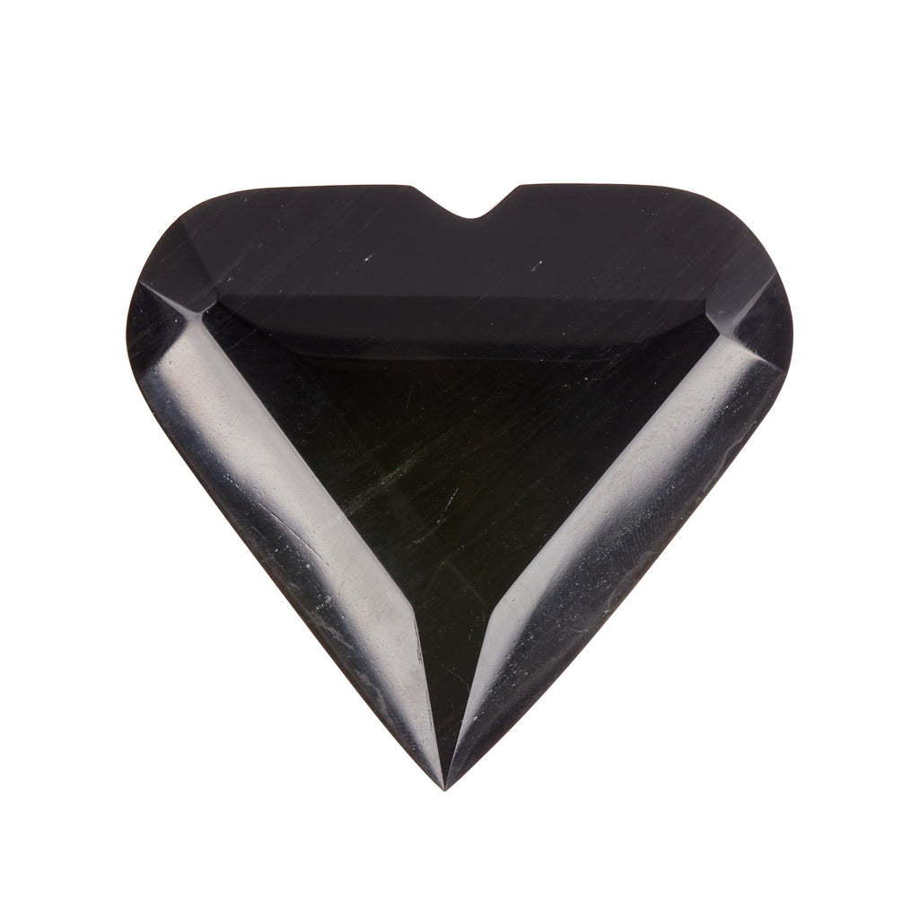 Black Obsidian Faceted Heart #2