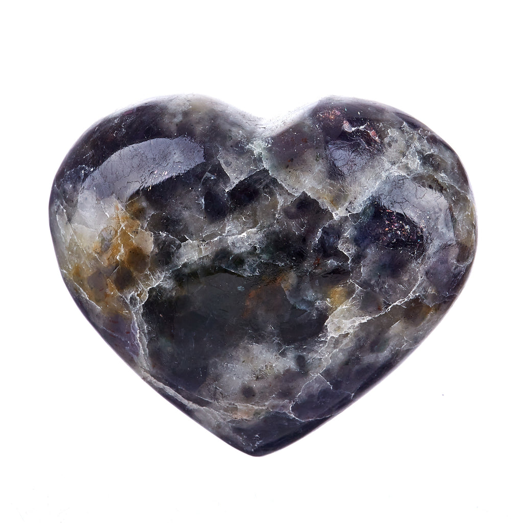 Iolite & Sunstone Heart #4
