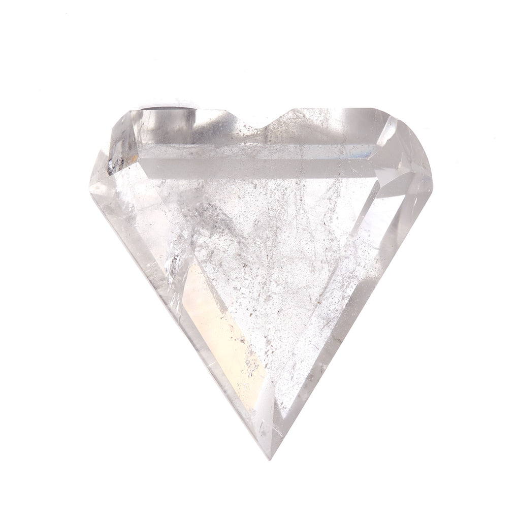 Clear Quartz Faceted Heart #2