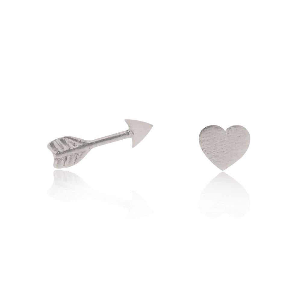Linda Tahija // Heart & Arrow Stud Earrings - Sterling Silver Heart & Arrow Stud Earrings - Sterling Silver Heart & Arrow Stud Earrings - Sterling Silver