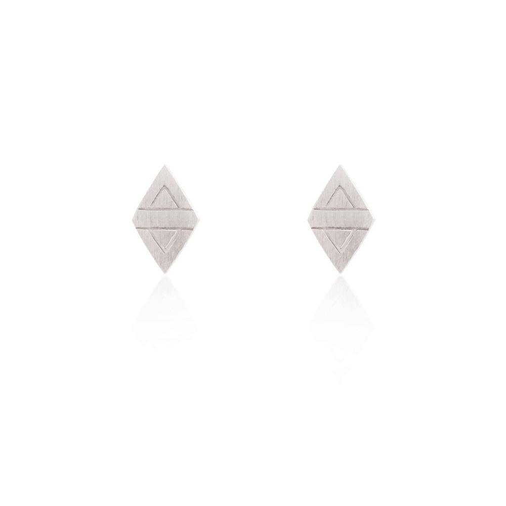 Linda Tahija //  Rhombus Stud Earrings - Sterling Silver