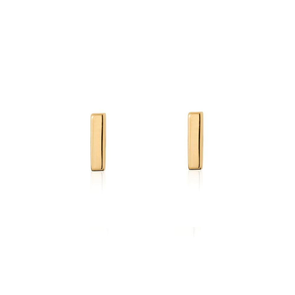Linda Tahija // Mini Bar Stud Earrings - Yellow Gold Plated Sterling Silver