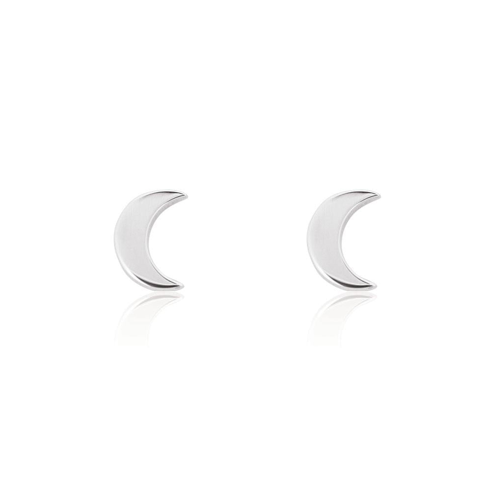 Linda Tahija // Moon Stud Earrings - Sterling Silver