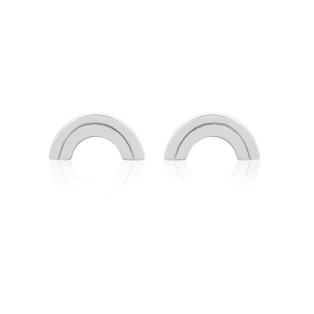 Linda Tahija //   Rainbow Stud Earrings - Sterling Silver Rainbow Stud Earrings