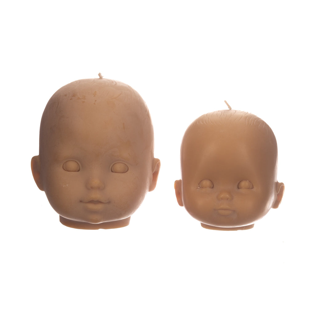 You, Me & Bones // Doll Head Candle - Caramel