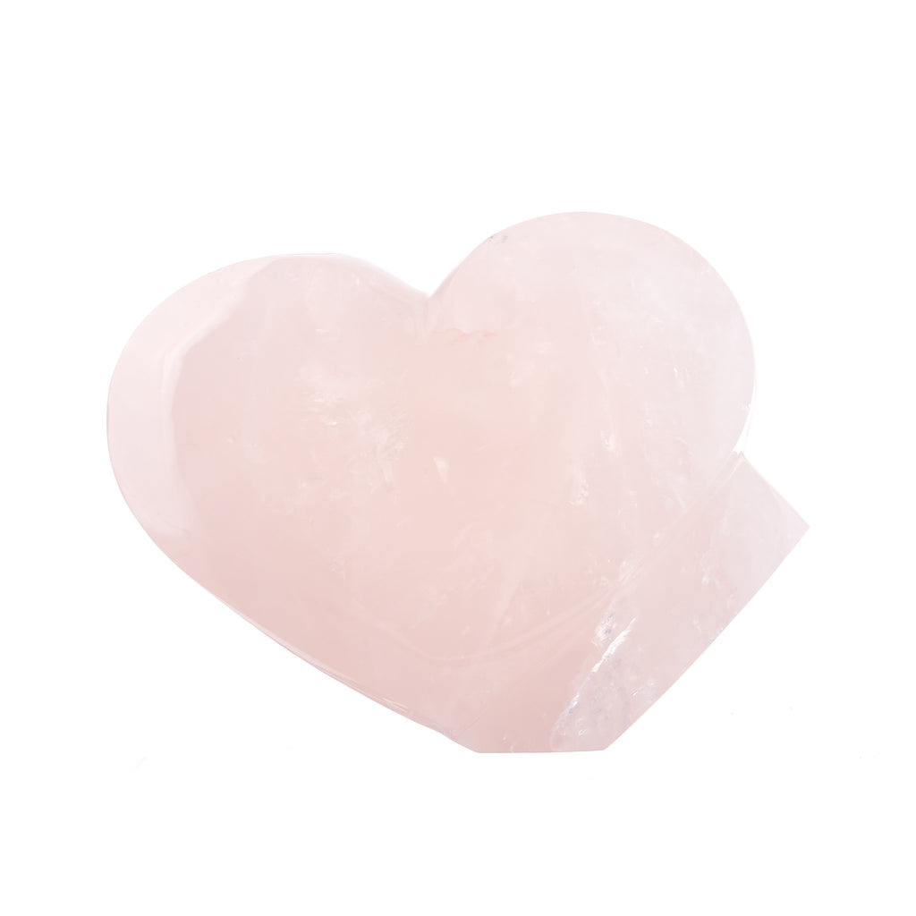 Rose Quartz Heart Sculpture #3