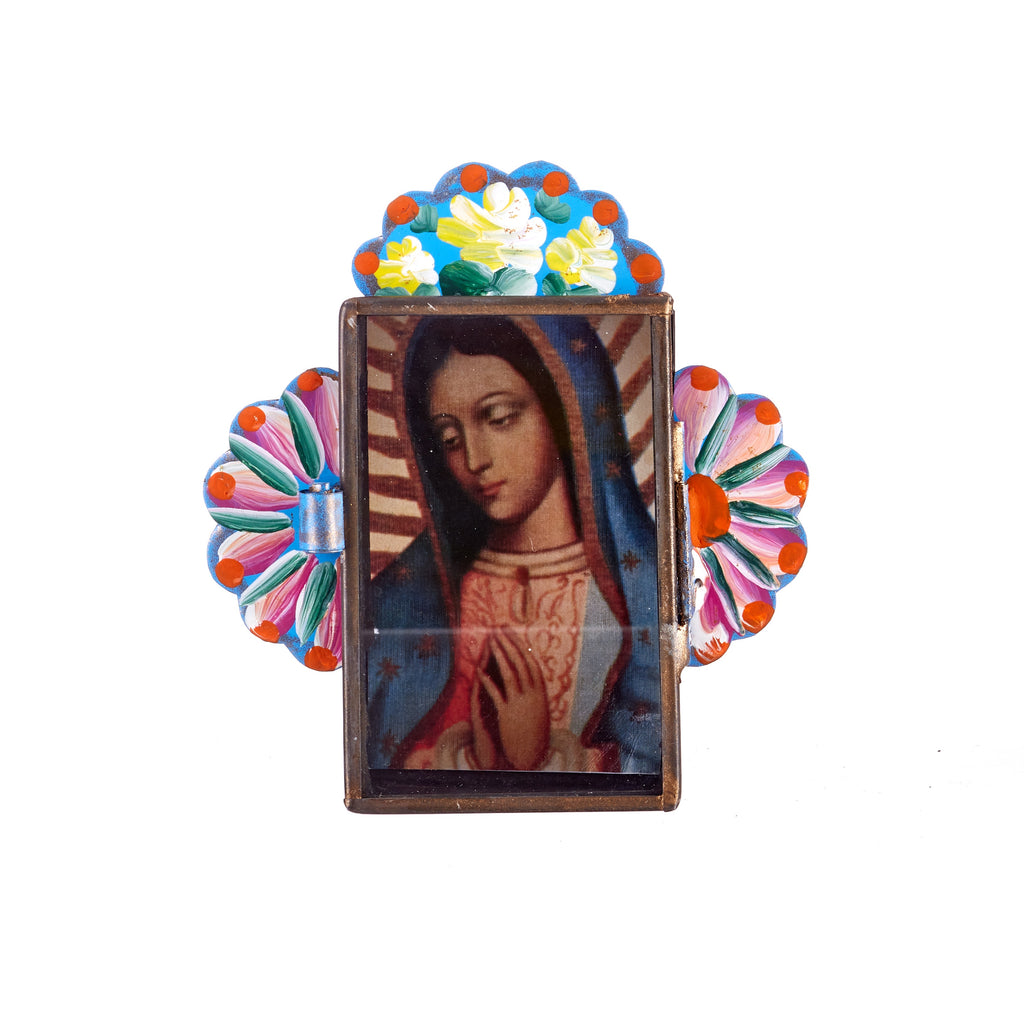 Mexican Handcrafts // Light Blue Mary Wall Hanging / Ornament