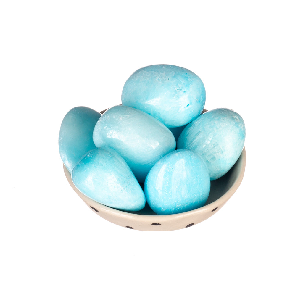 Blue Aragonite Tumbled