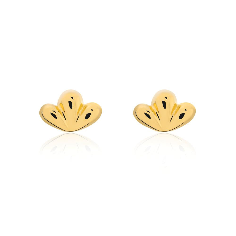 Linda Tahija // Bloom Stud Earrings - Yellow Gold Plated Sterling Silver