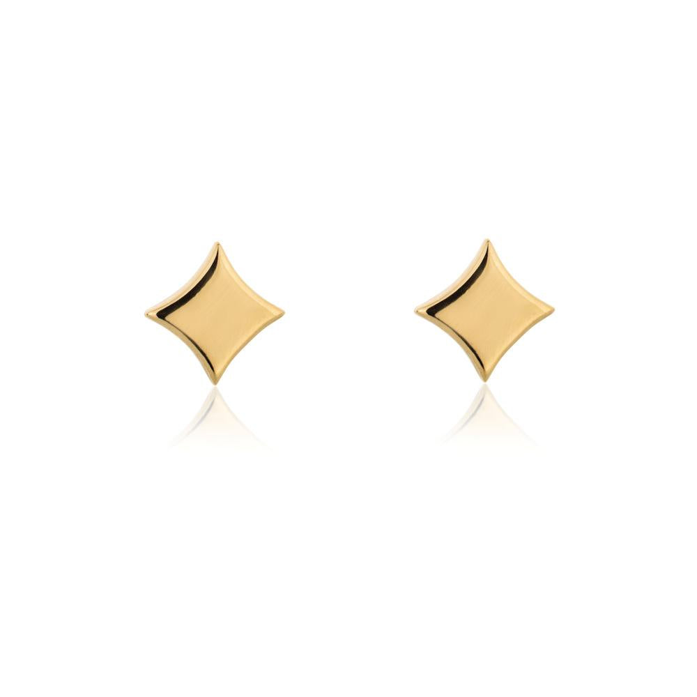 Linda Tahija // Night Star Stud Earrings - Yellow Gold Plated Sterling Silver