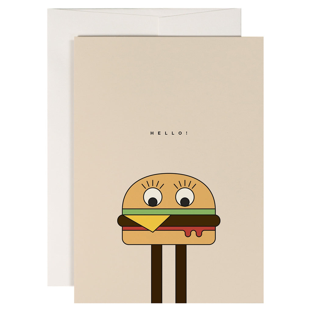 Redfries // Burgerman Greeting Card