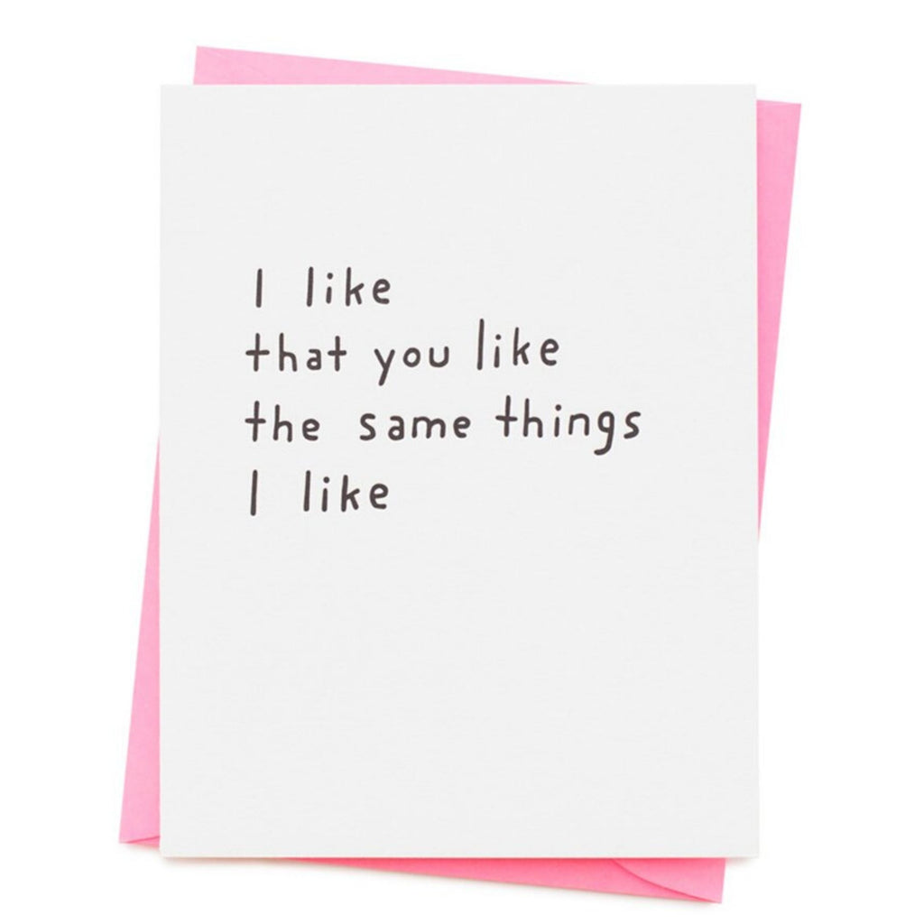 Ash Kahn // I Like That You Like Greeting Cards