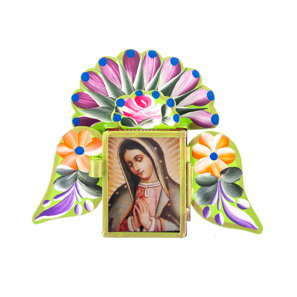 Mexican Handcrafts // Virgin Mary With Wings Ornament / Wall Hanging