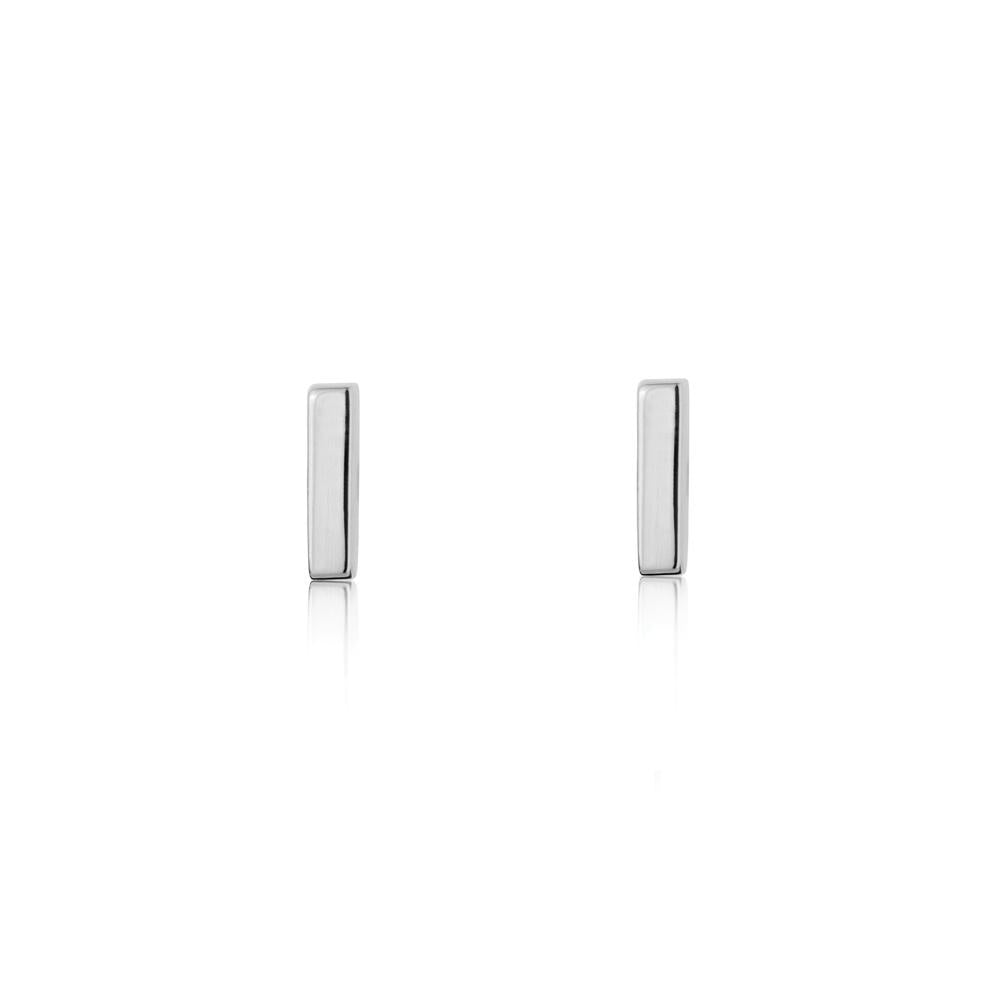 Linda Tahija // Mini Bar Stud Earrings - Sterling Silver