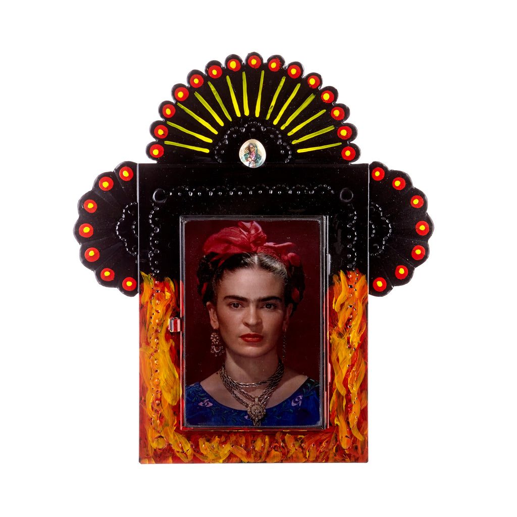 Mexican Handcrafts // Frida In Flames Wall Hanging / Ornament