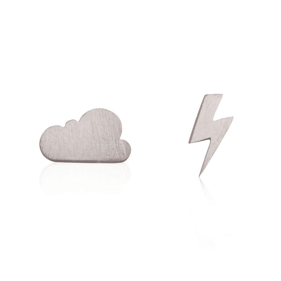 Linda Tahija // Cloud & Bolt Stud Earrings - Sterling Silver