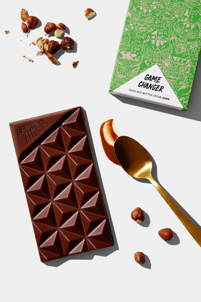 Hey Tiger // Game Changer - Hazelnut Butter Vegan Chocolate 85g