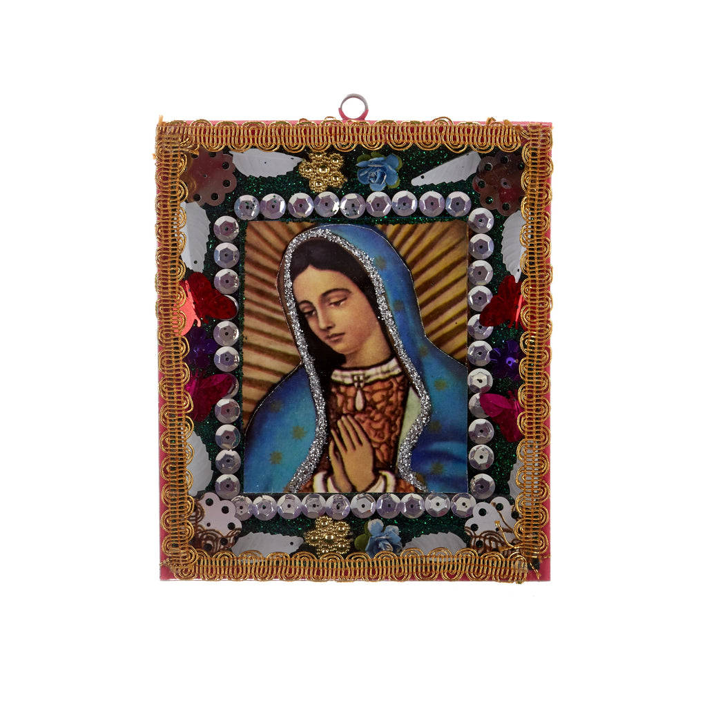 Mexican Handcrafts // Mary Pink Wall Hanging / Ornament