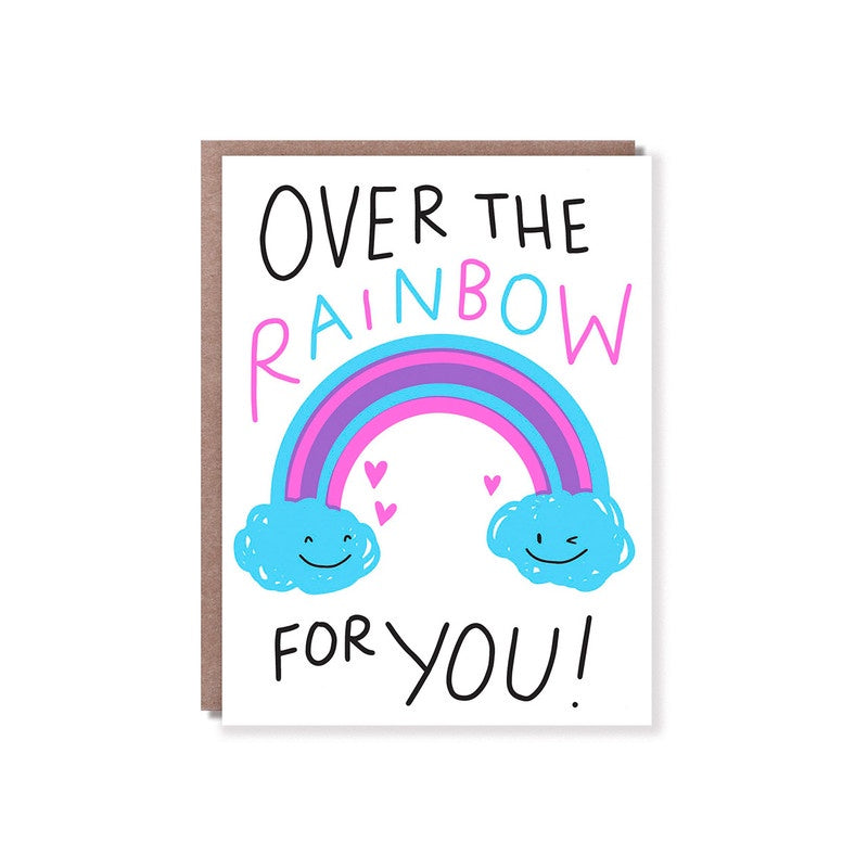 Hello Lucky // Over the Rainbow Greeting Card