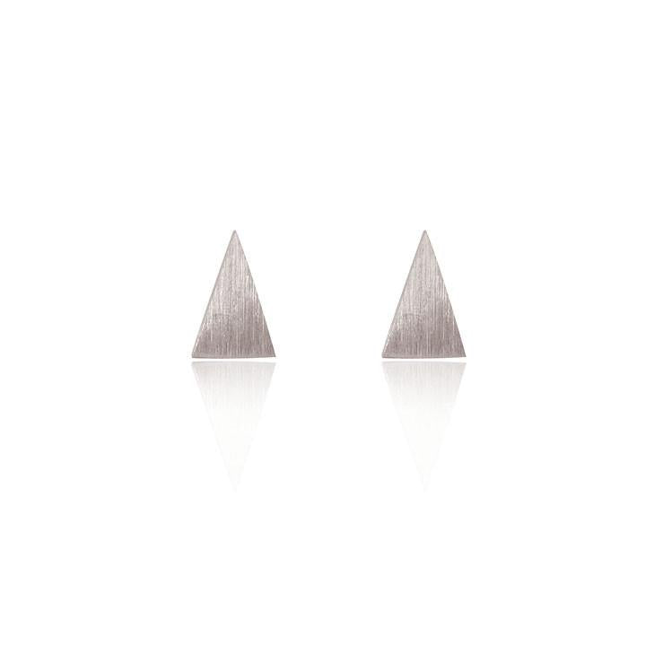 Linda Tahija // Triangle Stud Earrings - Sterling Silver