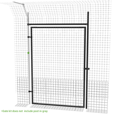 Heavy Duty Frame Gate for Freestanding Cat Fence System