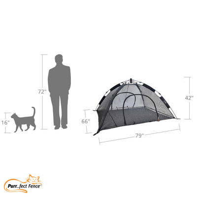 Purrfect PlayTent Portable Outdoor Cat Tent Catio & Small Pet Tent