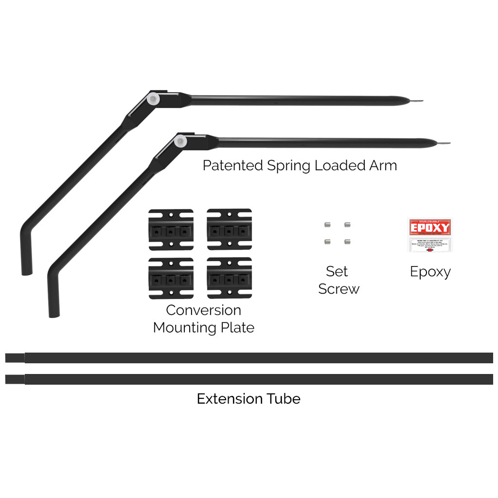 2-Pack Arm Add on to Conversion Fence System for Shorter Fences