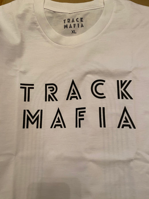 TrackMafia Crew Neck T-Shirt WHITE