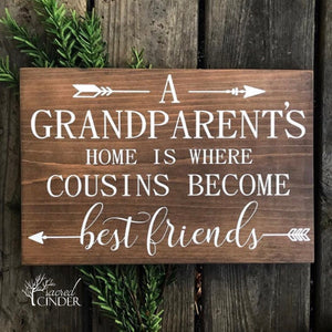 Grandparents Wood Sign