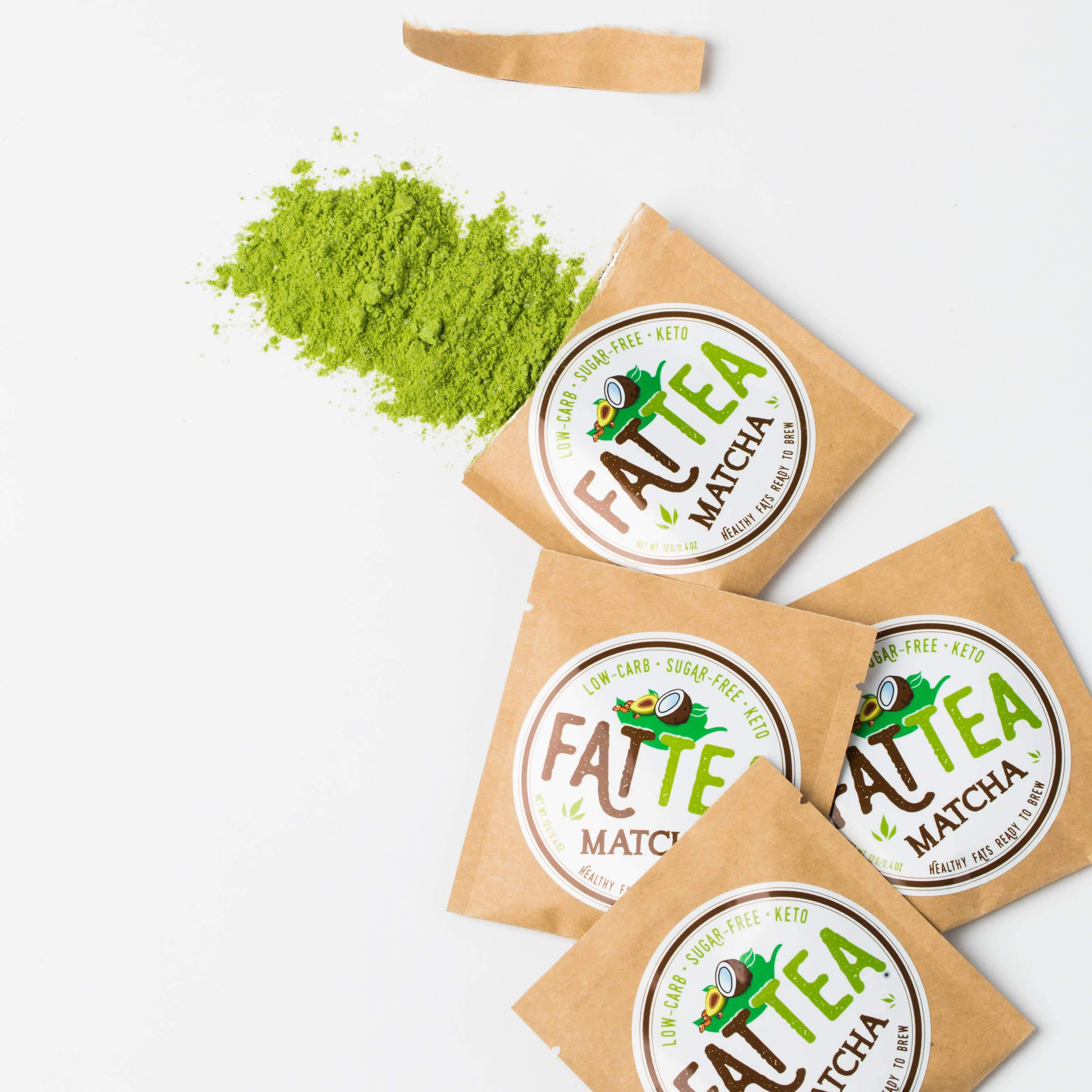 Fat Snax Best Tasting Keto Matcha Fat Tea Powder with MCTs