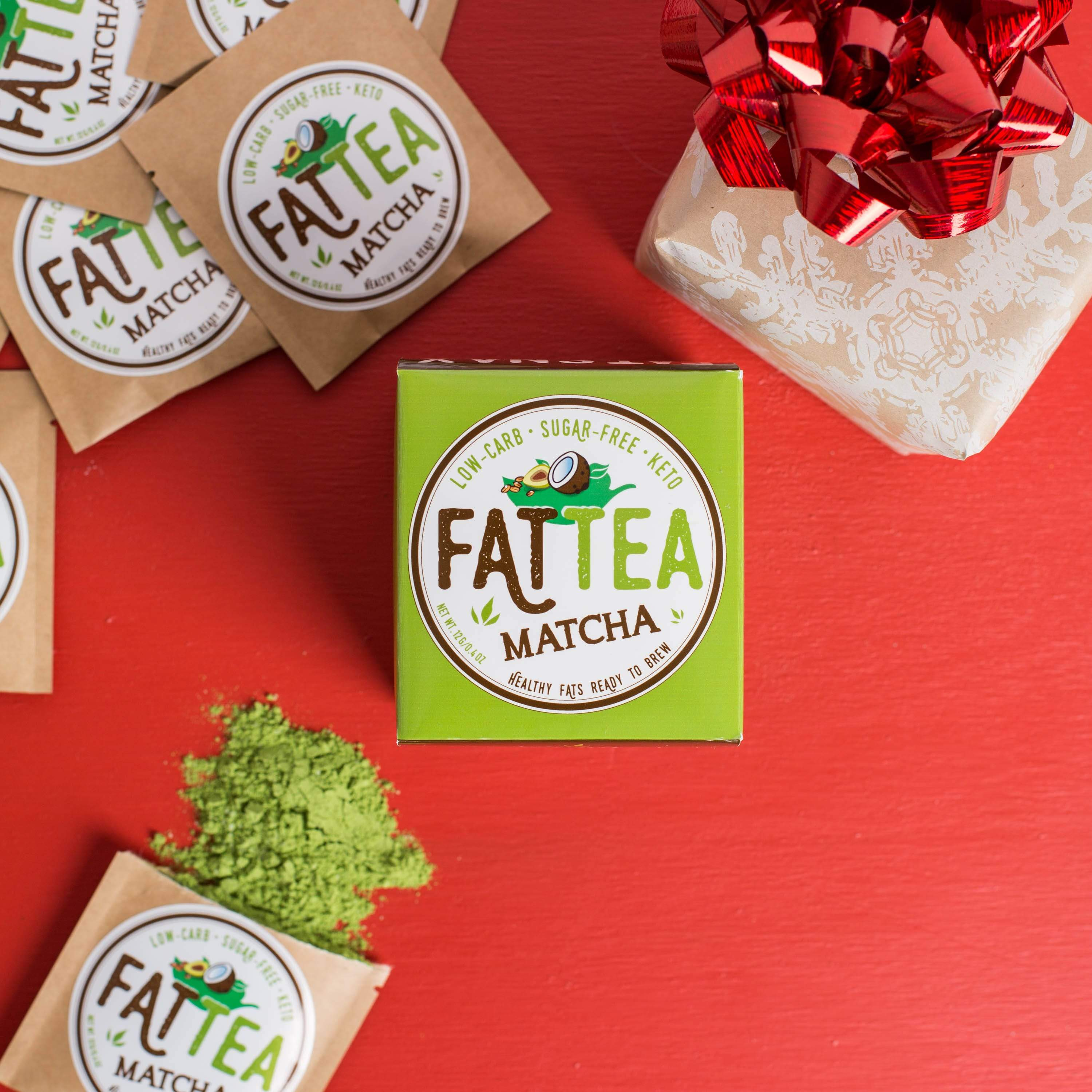 Fat Snax Ketogenic Matcha Fat Tea with MCTs for Ketosis