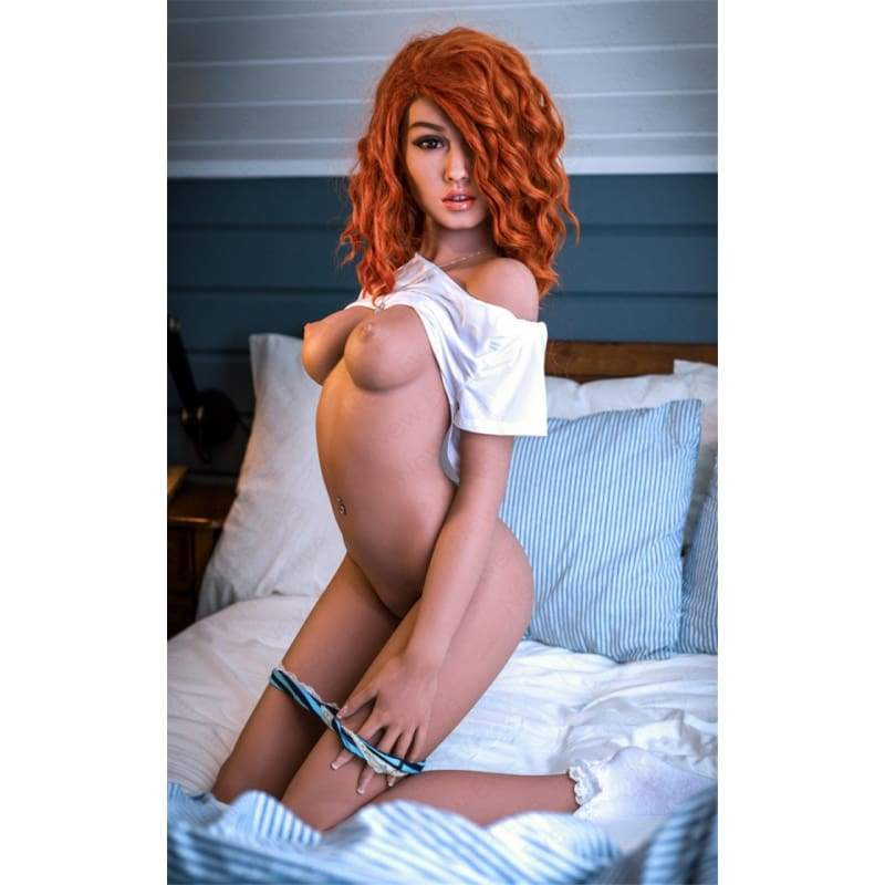 157cm ( 5.15ft ) Small Breast WM Sex Doll Red Head with Brown Curls DM19061107 Bonnie - Hot Sale