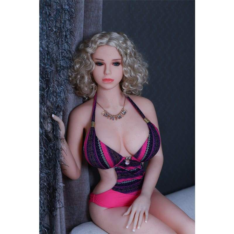 165cm ( 5.41ft ) Big Boom Sex Doll with Blonde Curls CB19061237 Christy - Hot Sale