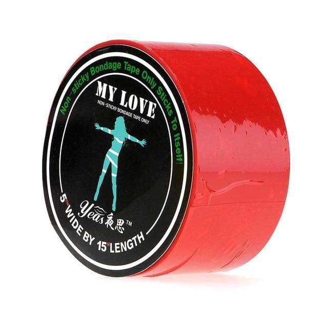 Bondage Restraint Tape BDSM Special Electrostatic Non Sticky PVC Tape 15M - Red
