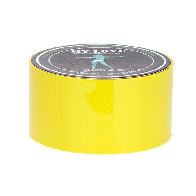 Bondage Restraint Tape BDSM Special Electrostatic Non Sticky PVC Tape 15M - Yellow
