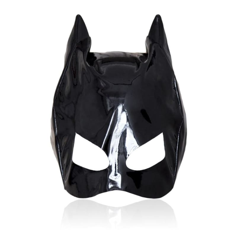 Catwoman - Fetish Mistress Cat Head Hood For BDSM Cosplay Headgear Bondage with Cat Ears Restraints Half Face Mask