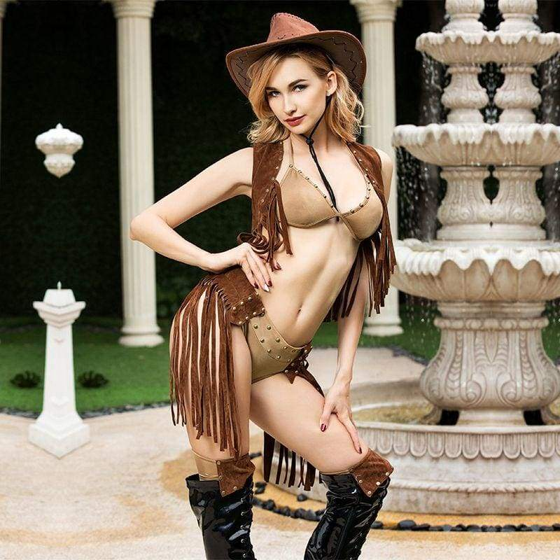 Cowboy - Deluxe Sexy Lingerie Set With Hat Erotic Costume For Woman SL10